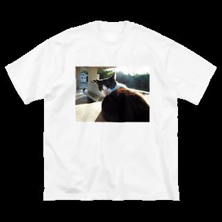 キシエリカの見返り美猫図 Big silhouette T-shirts