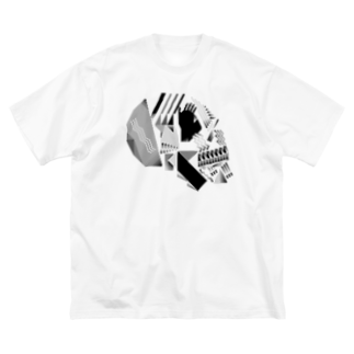 ヘルミッペ_hermippeの骸骨 Big silhouette T-shirts