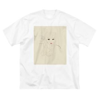 ohana_yg Big silhouette T-shirts