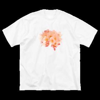月と森のCherry blossom  Big silhouette T-shirts