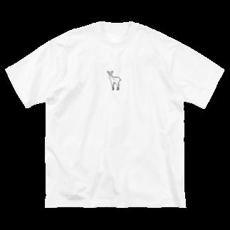 sea__のこちらをみつめる鹿 Big silhouette T-shirts