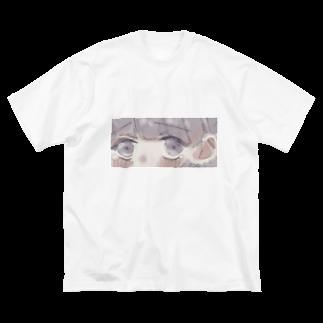 すのうあっぷるの内気ちゃん Big silhouette T-shirts