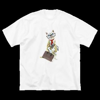 Rock catのサラリーキャット Big silhouette T-shirts