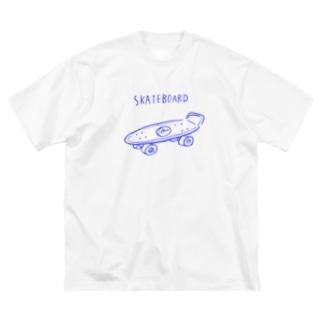 SKATEBOARD Big silhouette T-shirts