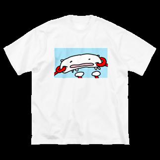 ダイナマイト87ねこ大商会のカニマッサージをうけるねこです Big silhouette T-shirts