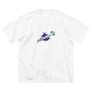 こけしボックスのダイイングイカメッセージ Big silhouette T-shirts