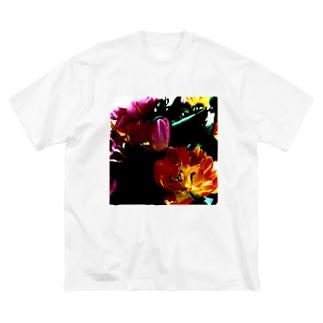 官能の授業:チューリップ Big silhouette T-shirts
