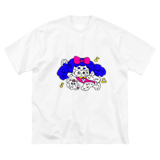 嘘つきちょめこ屋さんのダンシングペア Big silhouette T-shirts