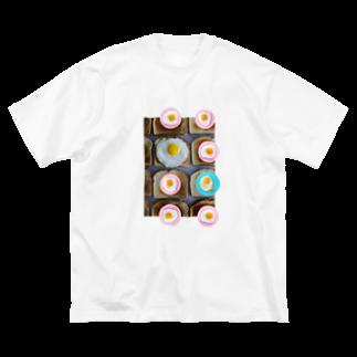 人生やり直しの目玉焼きとパン Big silhouette T-shirts