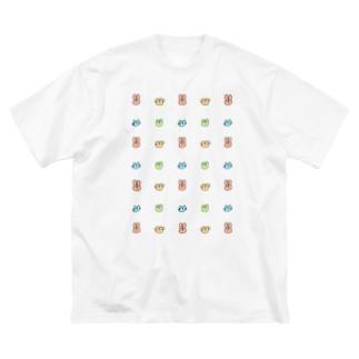いぬねこうさぎくまたち Big silhouette T-shirts
