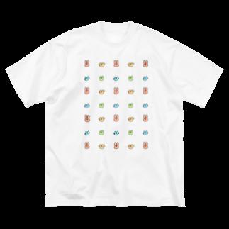 samereniのいぬねこうさぎくまたち Big silhouette T-shirts