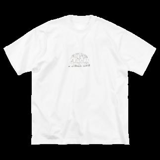 LUNAのサッカー Big silhouette T-shirts