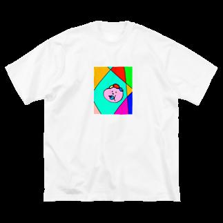 157_imのマイベイビー カラフル Big silhouette T-shirts