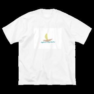 Atomatomのヨット Big silhouette T-shirts