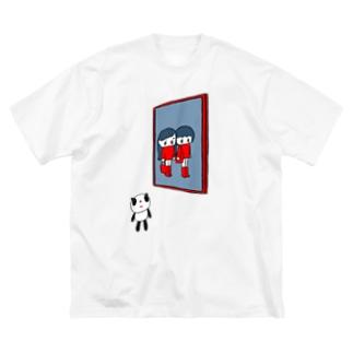モニョのポスター Big silhouette T-shirts