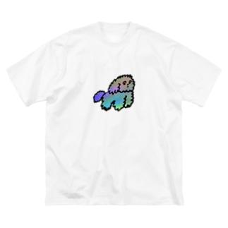 モジャ犬 Big silhouette T-shirts