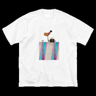 人生やり直しの壁と電話 Big silhouette T-shirts
