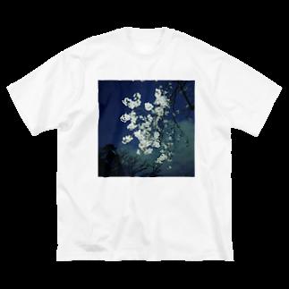 たかひろの夜桜 Big silhouette T-shirts