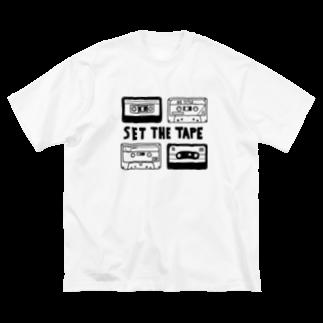 ちくわのいそべあげのカセットテープ Big silhouette T-shirts