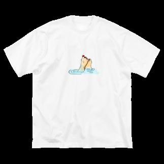 157_imのちゃぽーん Big silhouette T-shirts
