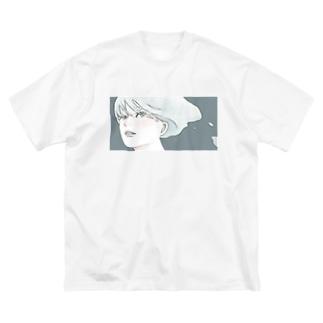 少女は溶けていく Big silhouette T-shirts
