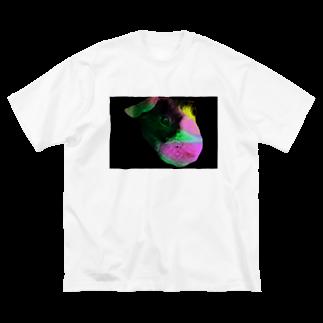 スキニーギニアピッグのもじお(と時々もじおの友達)の謎なもじお Big silhouette T-shirts