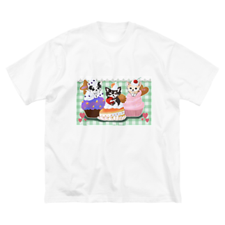 3shimai-mamaの3姉妹グッズ Big silhouette T-shirts