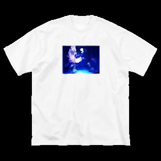 @mmのくらげ Big silhouette T-shirts