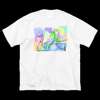 ltwincallのカラフル Big silhouette T-shirts