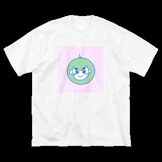 ltwincallのあおりんご Big silhouette T-shirts