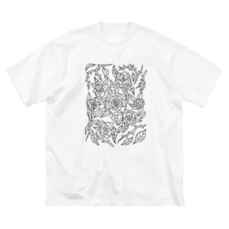 Roses Big silhouette T-shirts