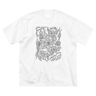 RainofglassのRoses Big silhouette T-shirts