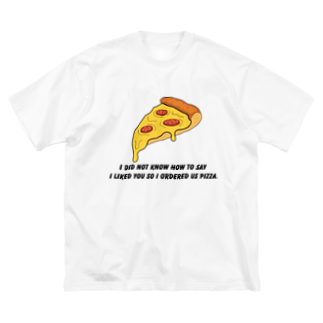 people with soulsのPIZZA collection Big silhouette T-shirts