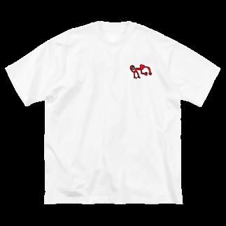 アメリカンベースのナスカのサル Big silhouette T-shirts