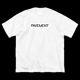 みのたけあらしの舗装された歩道 Big silhouette T-shirts