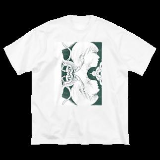 misの蛇 Big silhouette T-shirts