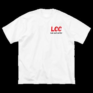 アメリカンベースのエアライン LCC  Low cost carrier Big silhouette T-shirts