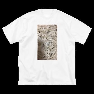 煮🥚店のうどんより お蕎麦 派グッズ Big silhouette T-shirts