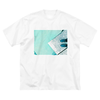 古春一生(Koharu Issey)の今日じゃない。(海と靴) Big silhouette T-shirts