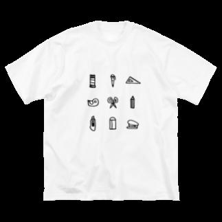 hanakumaの文房具 Big silhouette T-shirts