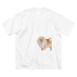 ポメラニアンのランディー 尻隠し Big silhouette T-shirts