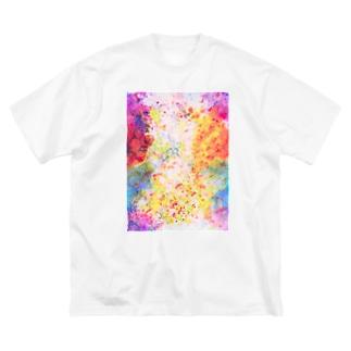 春朧(はるおぼろ) Big silhouette T-shirts