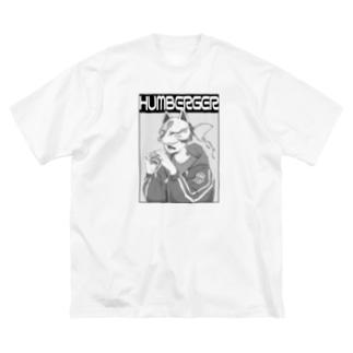 キツネくん3 Big silhouette T-shirts