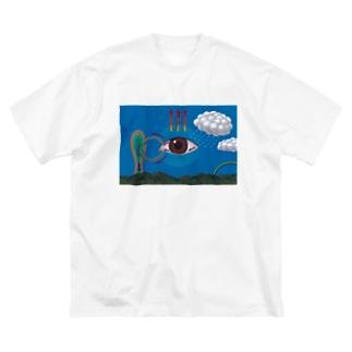 涙の分泌 Big silhouette T-shirts