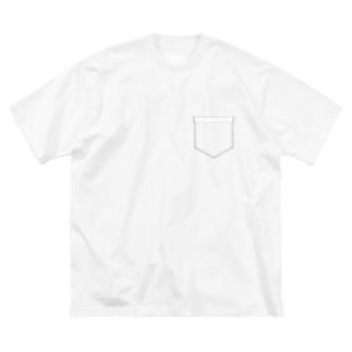 ポケットポケット? Big silhouette T-shirts