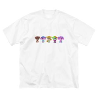 すうぃ〜つが〜るず!  Big silhouette T-shirts