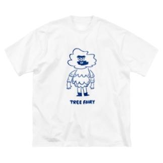 久保誠二郎 オフィシャルグッズのTREE FAIRY  Big silhouette T-shirts