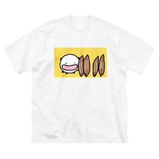 うなぎの蒲焼きを立てまくるねこです Big silhouette T-shirts