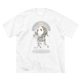 アマビエちゃん Big silhouette T-shirts