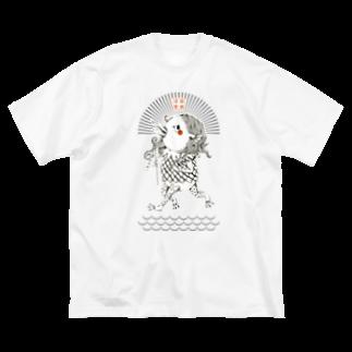 松野和貴のアマビエちゃん Big silhouette T-shirts
